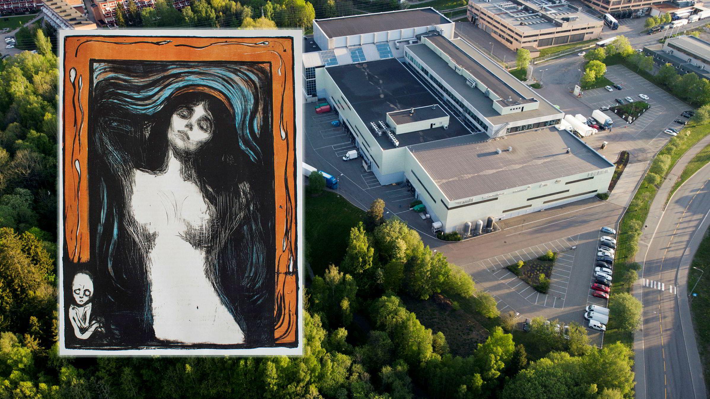 Hvem har hatt befatning med dette Edvard Munch-litografiet med rødoransje bord, etter at det forsvant fra DHLs kunstlager på Kalbakken en gang mellom sommeren 2013 og 2014?