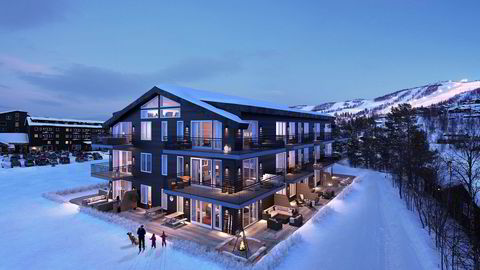 Nybygget på Vestlia Lodge skal etter planen være klart for innflytting til jul. Dette er et illustrasjonsbilde av 3Destate. Illustrasjon: Pål Harald Uthus/Merkantilbygg Holding