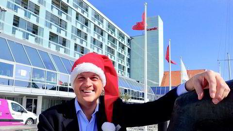 Reidar Westre, direktør ved både Scandic Maritim og Thon Hotel Saga i Haugesund, er strålende fornøyd med timingen, men varsler langt tøffere tider til våren.