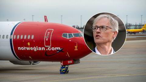 Leder Torbjørn Lothe (innfelt) i NHO Luftfart er positiv til en ny krisepakke for bransjen i løpet av vinteren. Det kan komme for sent for Norwegian, som trenger en økonomisk plan på bordet raskt for å overleve.
