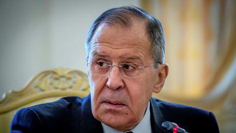 Russlands utenriksminister Sergej Lavrov hevder det er britene som tjener på giftangrepet i Salisbury.