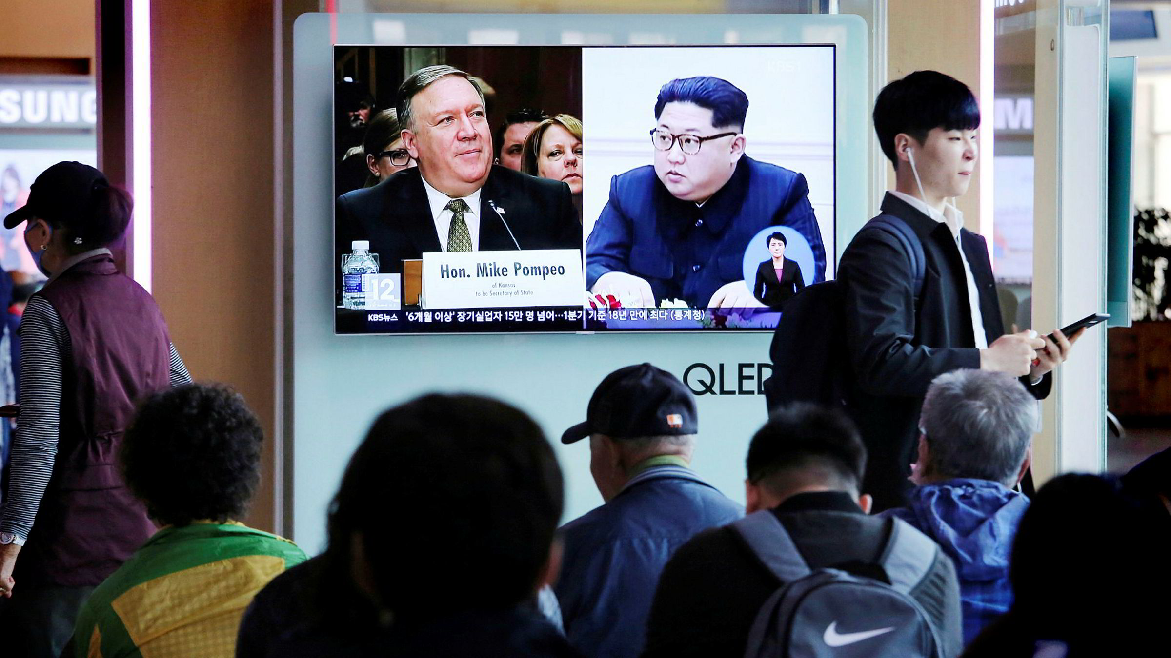 CIA-direktør Mike Pompeo og Nord-Koreas leder Kim Jong-un.
