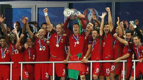 I 2016 kunne Portugal slippe jubelen løs for seier i fotball-EM. Om de klarer å forsvare tittelen må vi imidlertid vente til 2021 for å finne ut.