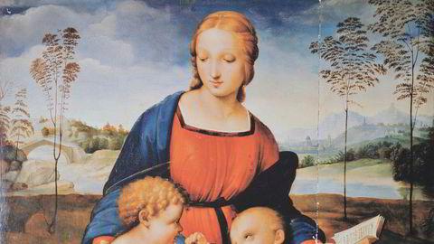 Er den mystiske «Madonnaen med gullfinken» eller «Göteborg-Madonnaen» malt av 1500-tallsgeniet Rafael? Eller er det en mesterlig forfalskning som i århundrer har forledet kunstsamlere? Rafael malte en rekke Madonna-motiver, felles for dem er den triangulære oppbyggingen av motivet og Madonnaens røde og blå klesdrakt.