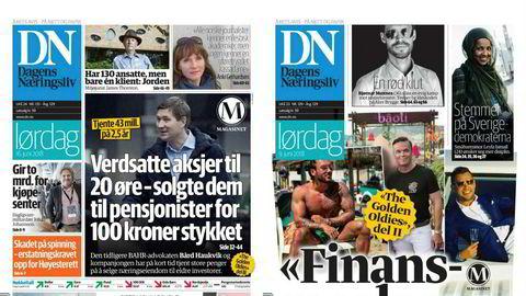 Faksimile fra Dagens Næringsliv 9. juni 2018 og 16. juni 2018