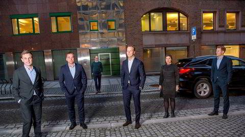 – Vi skal ikke være størst, men best, sier toppsjef Sverre Flåskjer i Equip. Fra venstre: Torkild Hebbert Haukaas, Sverre Flåskjer, Filip Abusdal Engebretsen, Andreas Lysdahl, Charlotte Ekanger og Eivind Saga.
