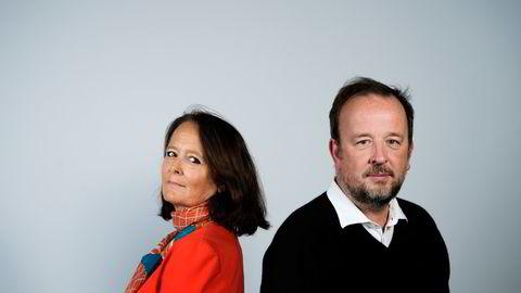 Kommentator Eva Grinde og politisk redaktør Frithjof Jacobsen i podkasten Den politiske situasjonen. Foto: Fartein Rudjord