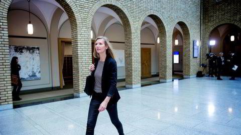 Marianne Marthinsen (Ap) vil ikke ha tilbake jobben hun mistet til Trond Giske. Her i vandrehallen på Stortinget.