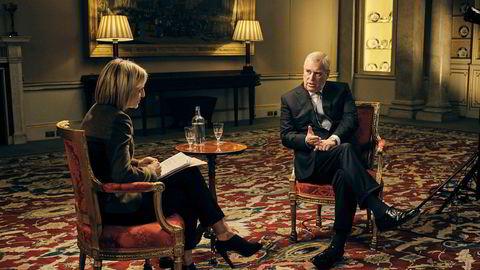 Prins Andrew i det skjebnesvangre intervjuet med BBC i november 2019.