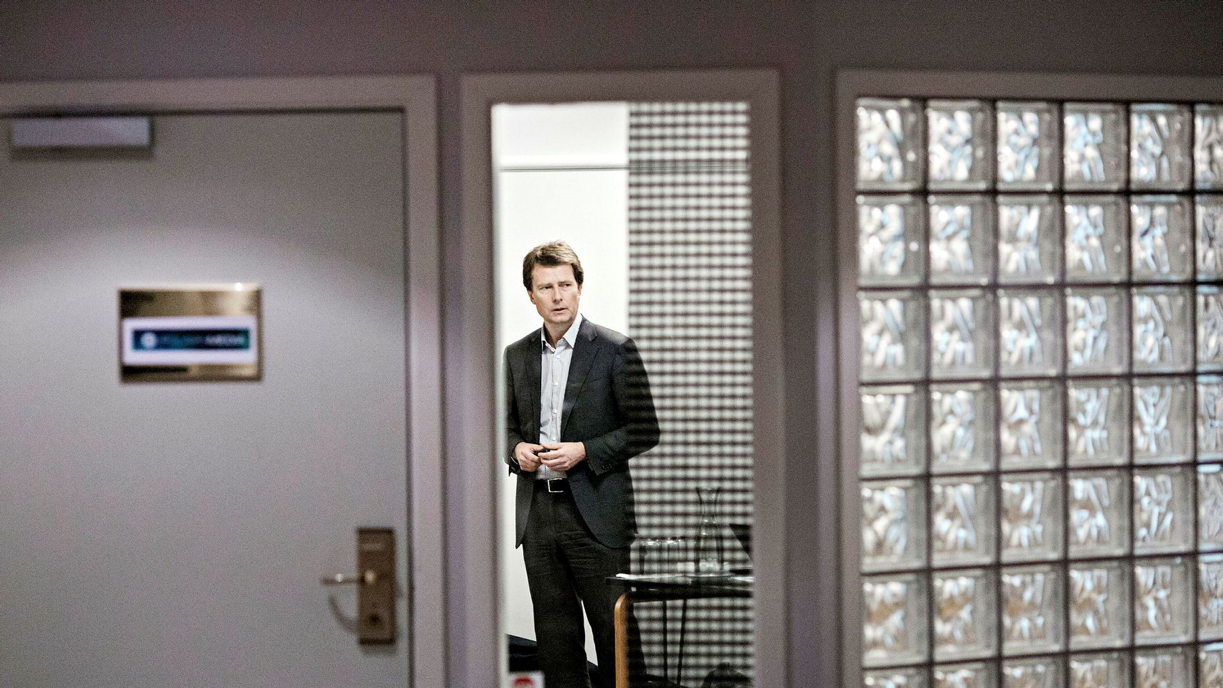 Konsernsjef Per Axel Koch i Polaris Media presenterer vekst i årets tredje kvartal. Her fra Polaris-konsernets Q3-presentasjon i fjor.