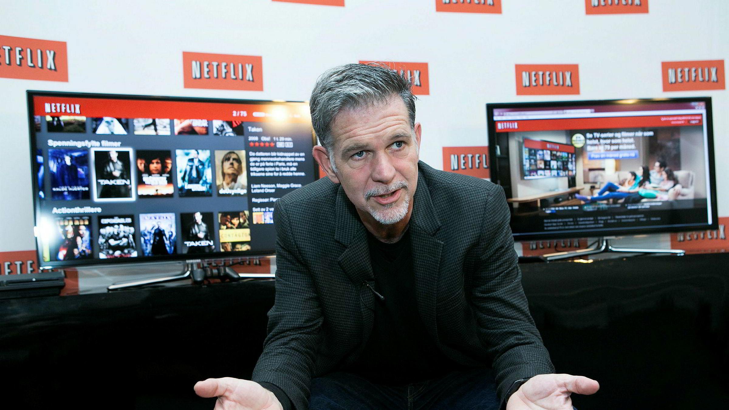 Konsernsjef Reed Hastings i Netflix melder om et «vakkert» 2017.