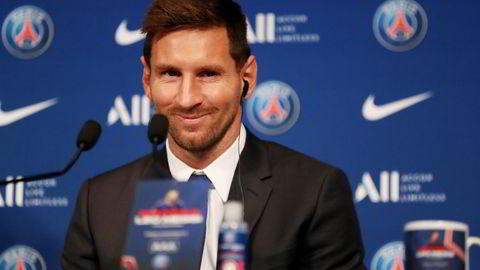 Lionel Messi møtte pressen i Paris onsdag formiddag.