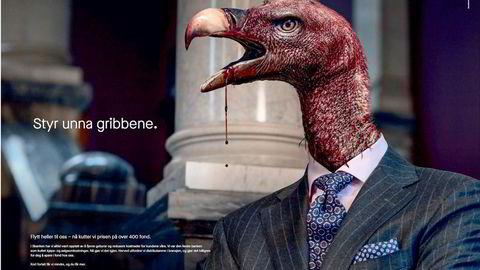 Fra Sbankens reklamekampanje da de satt ned prisen på fond i 2019.