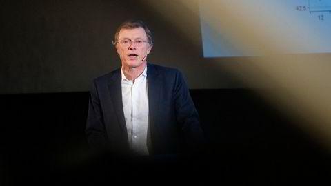 Sjefstrateg Peter Hermanrud i Sparebank 1 Markets fra sin presentasjon av utsiktene for 2020. I dag har han kommet med sine utsikter for 2021.