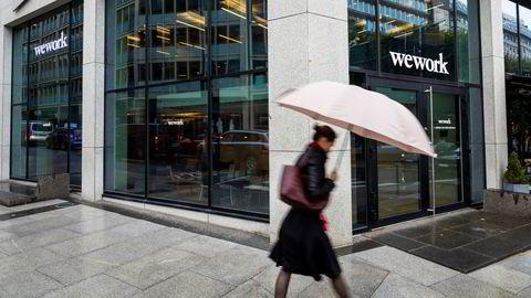 Kontorutleieselskapet Wework tilbyr kontorer blant annet i Haakon Vlls gate 5 i Oslo. Wework Norge går med underskudd i sitt andre driftsår.