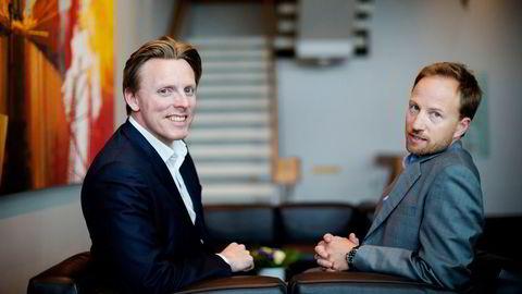 Nordmennene Anders Misund (til venstre) og Christian Sinding har nådd helt til topps i det svenske oppkjøpsfondet EQT, og er blitt mangemilliardærer på å utvikle selskaper og selge dem videre etter fem til syv år.