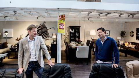 Skeidar har snudd fra underskudd til overskudd. Her er styreleder Thomas Berntsen og konsernsjef Martin Andresen.