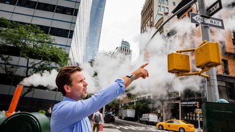 Det norske selskapet Unacast har i pandemien fått voldsomt stor oppmerksomhet fra næringslivet og myndigheter for sporingsdata. I nabolaget Tribeca sør på Manhattan har Thomas Walle (bildet) sett på hvem som flytter ut – og inn.