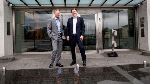 De norske EQT-toppene Anders Misund (t.v) og Christian Sinding har blitt mangemilliardærer gjennom sitt partnerskap i oppkjøpsfondet.