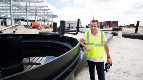 Johan Andreassen i Atlantic Sapphire bygger verdens største landbaserte oppdrettsanlegg for laks på sydspissen av Florida.