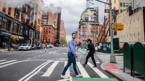 Thomas Walle er daglig leder og gründer av selskapet Unacast. Nå har det fått et nytt amerikansk venturefond på eiersiden. Her fra Tribeca i New York.