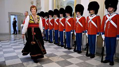 Aud Kolberg er Norges ambassadør i Danmark. Her er hun på Christiansborg Slott i januar 2020.
