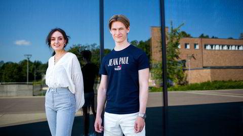 Kristine Røn Gisholt og Markus Westad har fått studieplass der karaktersnittet var høyest. Gisholt har søkt i ordinær kvote, og Westad har søkt for første gang.