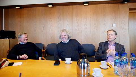 Norgesgruppen er kontrollert av Johannson-familien, som har bygget matimperiet rundt grossisten Asko. Her Torbjørn Johannson (til venstre), Johan Johannson og Knut Hartvig Johannson.