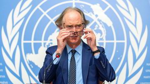 Geir O. Pedersen var i en periode ekspedisjonssjef for UD-avdelingen som avgjorde støtte til tankesmien International Peace Institute.