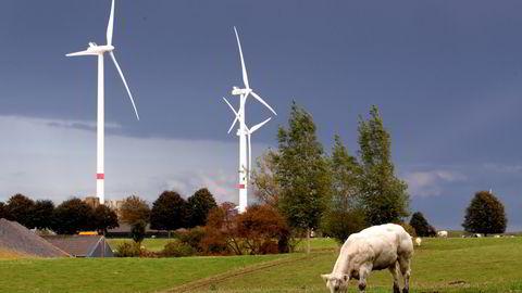 Hvis land som Nederland og Belgia skal dekke sitt energibehov fra vindkraft, må halvparten av territoriet på land brukes til vindmølleparker, skriver artikkelforfatterne. Illustrasjonsfoto fra Waremme i Belgia.