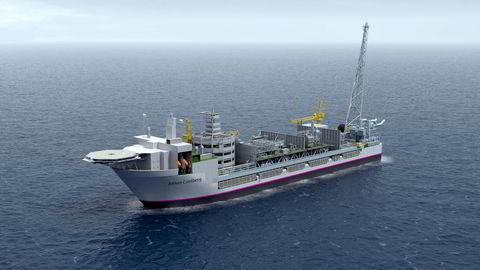 Johan Castberg-skipet slik det skal se ut når det er klart for å produsere i Barentshavet. Tirsdag ble det kjent at oljeprosjektet har gått på en ny milliardsprekk og er ytterligere utsatt.