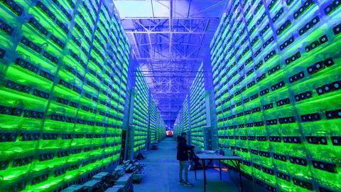 Kryptovalutautvinning pågår her i regi av Crypto Universe i Nadvoitsy i Russland.
