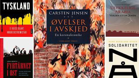 Nye bøker fra Astrid Sverresdotter Dypvik, Carsten Jensen, Cecilie Hellestveit, John Færseth og Rune Berglund Steen.