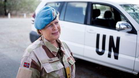 Kristin Lund har hatt flere viktige FN-oppdrag. Her på Kypros.