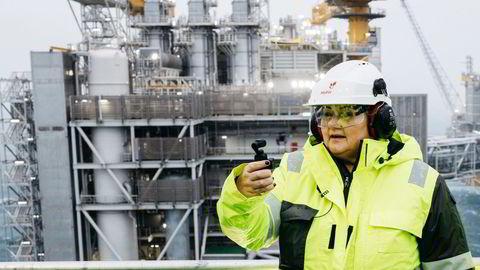 Statsminister Erna Solberg er blant de europeiske lederne som har minst grunn til å fortvile over de økonomiske skadevirkningene av koronapandemien. Her fra åpningen av Johan Sverdrup-feltet i Nordsjøen.