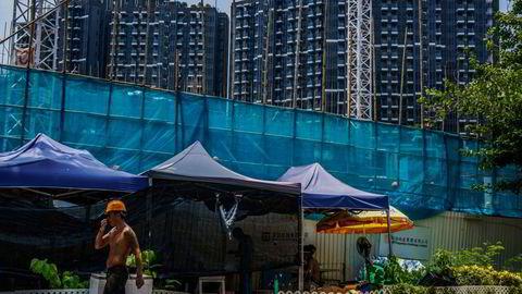 Markedet frykter kollaps for det kinesiske selskapet Evergrande.