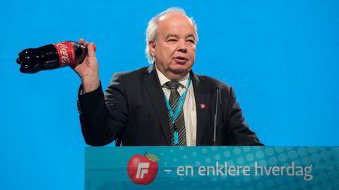 Per Roar Bredvold har fortsatt å være aktiv i politikken etter at han forlot Stortinget. Her taler han mot sukkeravgiften på Frps landsmøte i 2018.