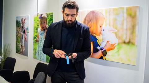 Xplora Technologies solgte smartklokker for barn for over 200 millioner kroner i fjor. Her er daglig leder Sten Kirkbak.