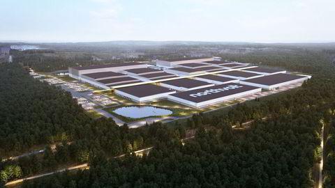 Denne batterifabrikken ved Skellefteå i Sverige skal stå ferdig i 2023. Ifølge IEA vil målsetningen om 20 nye batterifabrikker hvert år frem til 2030 innebære at behovet for metaller og mineraler vil femdobles.