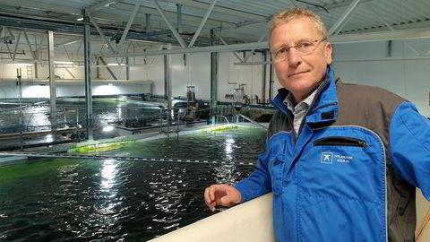 Andreas Kvame er konsernsjef i Grieg Seafood. Her hos smoltprodusenten Tytlandsvik Aqua, hvor Grieg Seafood er medeier.