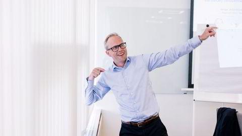 Optimismen er skyhøy blant bedriftskundene til Sparebank 1 SR-Bank. Optimismen er større enn sjeføkonom noensinne har sett. Her ved sjeføkonom Kyrre Knudsen.