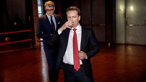 Kristian Røkke (til venstre) leder Akers grønne satsing i Aker Horizons under Aker-sjef Øyvind Eriksen, men snart skal det grønne børsnoteres som eget selskap.