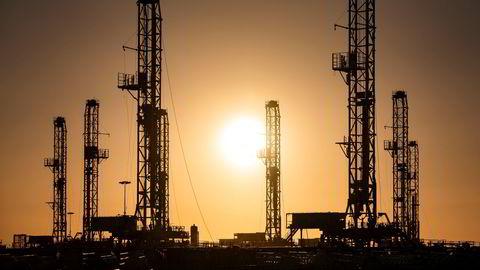 Oljeproduksjonen i USA har svingt etter sommeren. Her fra Odessa i Texas.