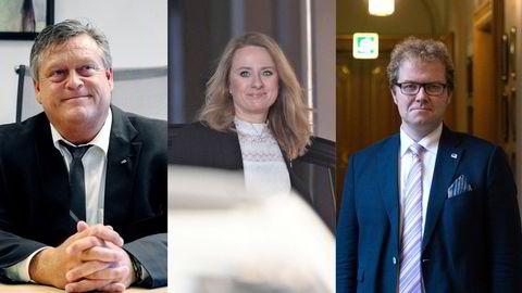 Harald Tom Nesvik, Anniken Hauglie og Bjørgulv Borgundvaag er tre av politikerne som har fått kritikk.