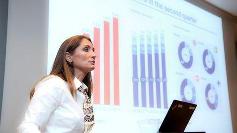 I koronaåret 2020 lånte norske kunder 2,4 milliarder og de betalte tilbake 3,8 milliarder kroner på sine lån i Bank Norwegian, skriver Tine Wollebekk (bildet).