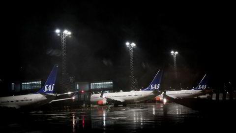 SAS har lagt bak seg et år med fravær av de fleste passasjerer – og dermed inntekter – grunnet koronakrisen. Her fra Bergen lufthavn Flesland.