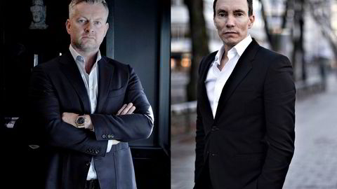 Endre Tangenes (til venstre) og Erik Egenæs i Nordic Securities er tiltalt for grovt bedrageri og å ha påført småinvestorer til sammen 47 millioner kroner i tap.