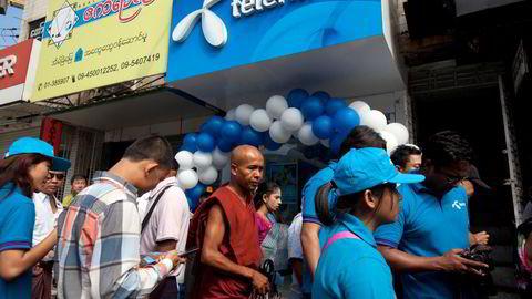 Telenor vil ut av Myanmar. Her fra hovedstaden Yangon.
