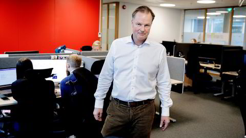 Toppsjef Øyvind Thomassen i Sbanken var med allerede da banken ble planlagt og etablert i Norge i 2000. Hvis Konkurransetilsynet sier ja, skal han sette seg sammen med de nye eierne straks, og tror Sbanken-navnet overlever.