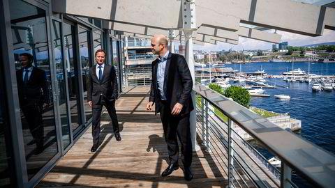 Jon Christian Thaulow (til høyre) og Stig Engelhart advokater i Bahr.